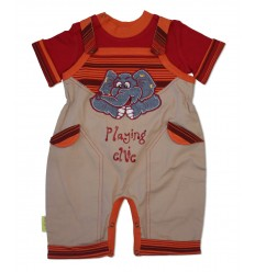Set salopeta tricou Playing Ellie_HooligansKids