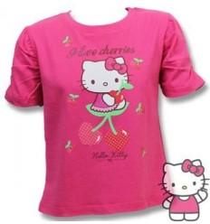Tricou fete fucsia Hello Kitty