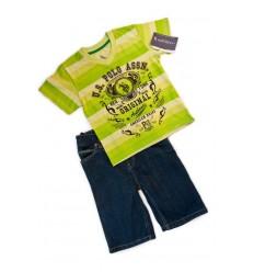 Compleu tricou verde si jeans scurt_U.S. Polo Assn.