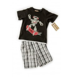 Compleu pantalon scurt si tricou Kids Headquarters Boys