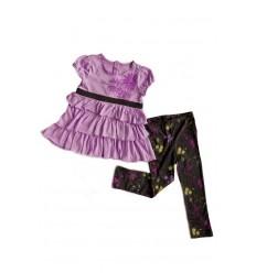 Compleu fetite leggings gri si top mov_Calvin Klein