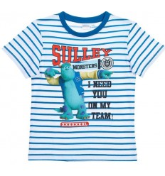 Tricou baieti Monsters Inc Blue Stripes