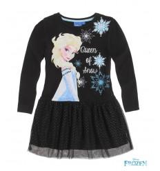 Rochita neagra eleganta Elsa Frozen cu tulle