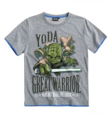 Tricou Star Wars Yoda gri