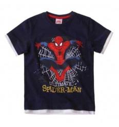 Tricou baieti  bleumarin Spiderman