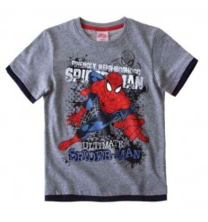 Tricou baieti gri Spiderman