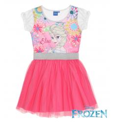 Rochie Frozen Elsa fucsia cu tul