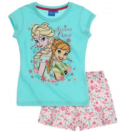 Pijama Elsa Frozen bleu/ alb floral
