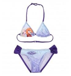 Costum de baie 2 piese Elsa si Anna Frozen mov