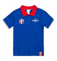 Tricou baieti polo EURO2016 albastru