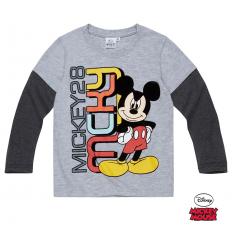 Bluza cu maneca lunga Mickey Mouse gri