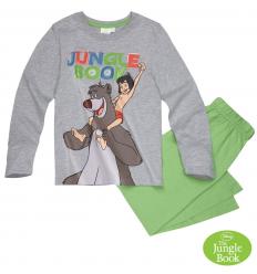 Pijama cu maneca lunga baieti Cartea Junglei gri