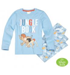 Pijama cu maneca lunga baieti Cartea Junglei albastra