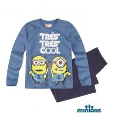 Pijama baieti Minions albastru
