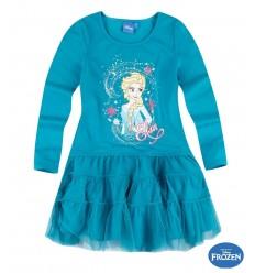 Rochie cu tul Elsa Frozen verde