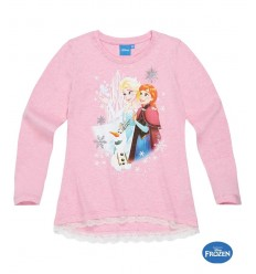Bluza maneca lunga Elsa Frozen roz