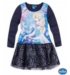 Rochie cu tul Elsa Frozen bleumarin