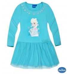 Rochie cu tul Elsa Frozen bleu