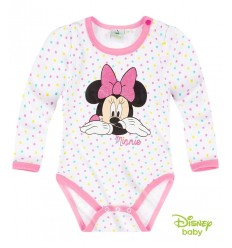 Body Minnie Mouse alb