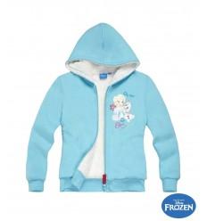 Hanorac imblanit Elsa Frozen bleu
