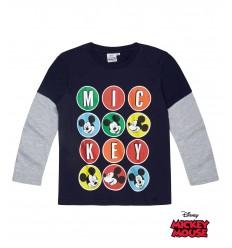Bluza cu maneca lunga Mickey Mouse bleumarin
