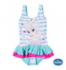 Costum de baie fete Elsa Frozen alb