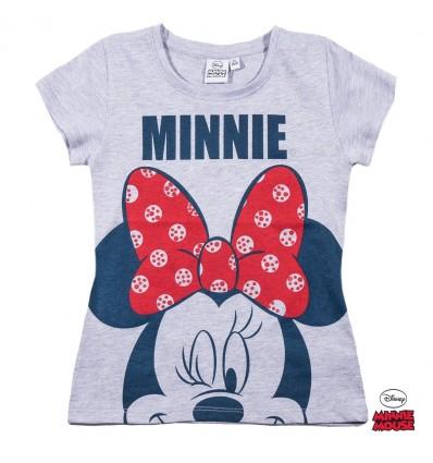 Tricou fete Disney Minnie Mouse gri