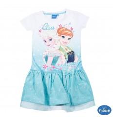 Rochie de vara fete cu tulle Anna si Elsa bleu