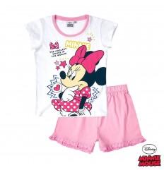 Pijama de vara copii Disney Minnie alb