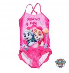 Costum de baie fete Patrula Catelusior roz