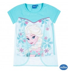 Tricou tulle Elsa Frozen bleu