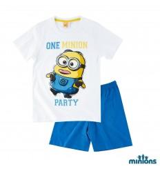 Pijama copii Minions alb albastru