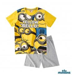Pijama copii Minions galben gri