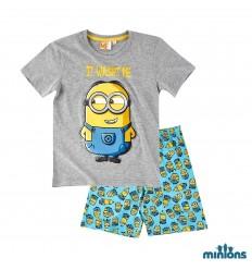 Pijama copii Minions gri
