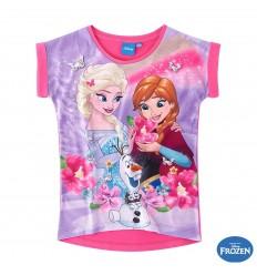 Tricou fete Elsa si Anna Frozen roz