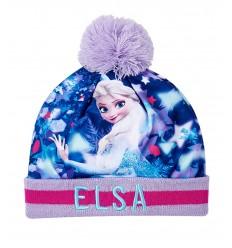 Caciula fete Elsa Frozen cu mot