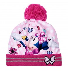 Caciula fete Minnie Mouse cu mot