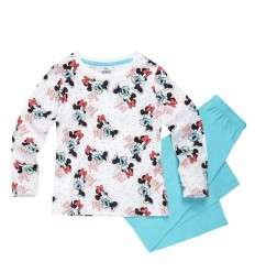 Pijamale maneca lunga Disney Minnie Mouse alb/ bleu