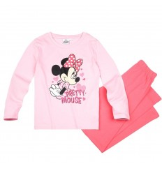 Pijamale maneca lunga Disney Minnie Mouse roz