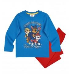 Pijamale Patrula Catelusilor albastru/ rosu