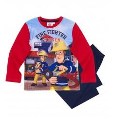 Pijamale Pompierul Sam rosu/ bleumarin