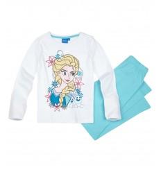 Pijamale maneca lunga Frozen alb/bleu