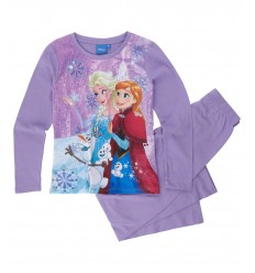 Pijamale maneca lunga Frozen mov