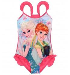 Costum de baie copii Frozen roz