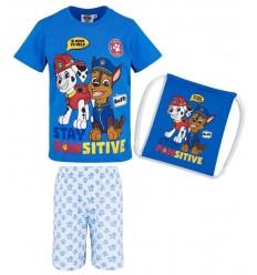 Pijamale baieti cu saculet Patrula Catelusilor