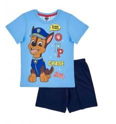 Pijamale maneca scurta Patrula Catelusior albastru/ bleumarin
