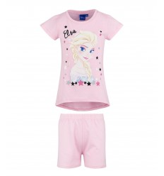 Pijamale fete maneca scurta Disney Frozen roz