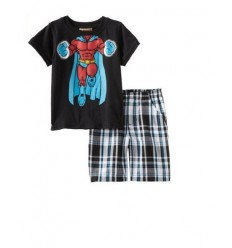 Compleu baieti tricou si pantalon scurt SuperHero