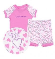 Pijama fete cu inimioare_Calvin Klein Girls